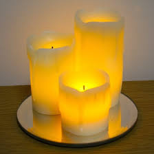 led candle set of 3 flameless led candles wooden lantern with