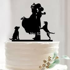 dog cake topper free shipping groom silhouette cake topper monogram cake
