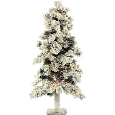 5 ft pre lit alpine artificial christmas tree with clear lights