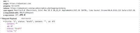 rest api put request not working draft doesn u0027t get saved issue