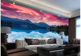 papier peint pour chambre coucher 3d papier peint pour chambre lacs et montagnes paysage fond mur