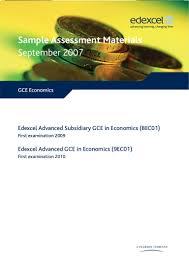 sample economics papers units 1 4 u0026 mark schemes