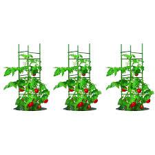 3 pack of tomato plant cage climbing fruit veggie garden trellis