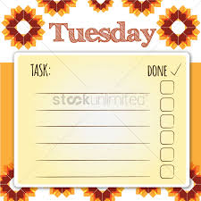 blank daily checklist template vector image 1479843 stockunlimited