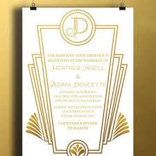 Gatsby Invitations Shop Art Deco Invitations On Wanelo
