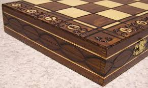wooden folding chess set pleasant times industries wooden inlaid