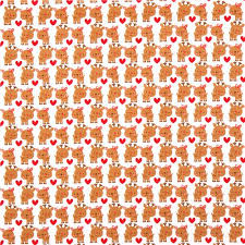 white reindeer fabric santa express kawaii