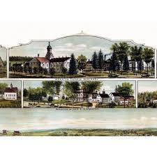 map of northton ma 4 vintage posters historic map of norton massachusetts 1891
