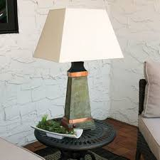 hammered copper lamp wayfair