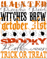 Free Printable Halloween Signs by Halloween Subway Art Printables Spilled Glitter