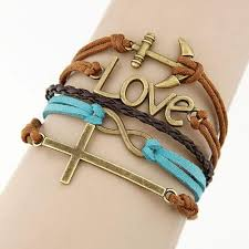 leather bracelet girl images Goody stall fashionable charm vintage multilayer leather jpg