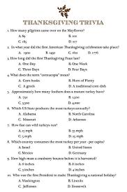 pass copies of this thanksgiving trivia around your table