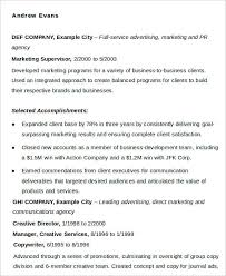Resumes For Marketing Jobs by Marketing Resume Download 42 Free Word Pdf Documents Download