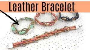 leather bracelet with charms images Leather bracelet with charms super easy tutorial jpg