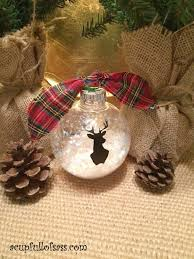 silhouette deer ornament a cup of sass
