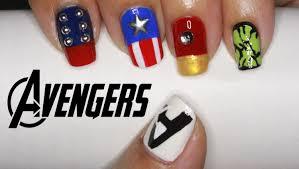 easy nail art characters the avengers nail art thor captain america iron man hulk