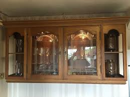 kitchen display cabinets solid oak kitchen display cabinet spot lights and glass shelves