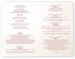 ceremony program wording wedding programs wording unique elegance and engravers