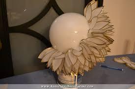 Flower Pendant Light Diy Faux Capiz Shell Flower Pendant Light