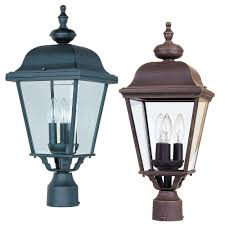 outdoor light post fixtures maxim 3008 builder cast traditional 24