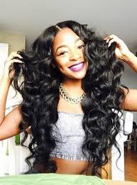 black hair weave part in the middle hair weave african american natural black deep wave india human