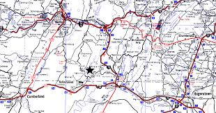 Pennsylvania State Map pa state road map to four quarters