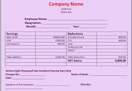 download salary slip format in excel and word manager u0027s club