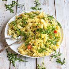 lemon rocket pasta salad lauren caris cooks