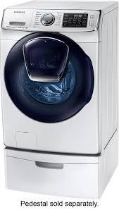 Samsung Blue Washer And Dryer Pedestal Samsung 5 0 Cu Ft 14 Cycle Addwash High Efficiency Front Loading