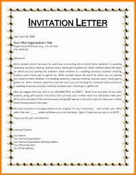 Sample Invitation Business Letter by 7 Event Invitation Format Resumes Great