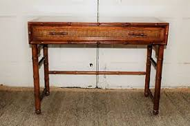 american of martinsville desk mid century faux bamboo writing desk american of martinsville ebay