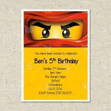 Lego Invitation Cards Lego Invitations Ebay