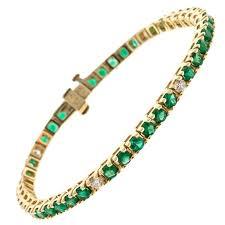 emerald diamond gold bracelet images Emerald cut diamond white gold tennis bracelet illusion set for jpg