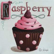 raspberry chocolate cupcake painting by catherine holman