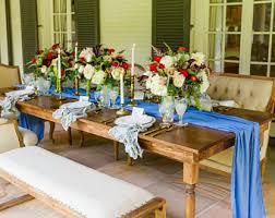 Dining Room Table Runners Blue Table Runner Etsy
