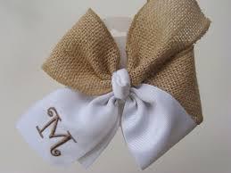 custom hair bows monogrammed burlap hair bow initial custom boutique aftcra