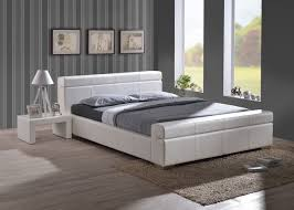 Double Faux Leather Bed Frame by Furniturekraze Ltd Durham Faux Leather Bed White