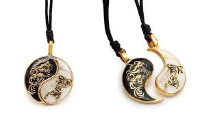 dragon necklace pendant images Dragon tiger yin yang best friend handmade brass necklace pendant jpg
