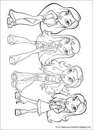 bratz colouring pages colouring bratz monster moxie girls