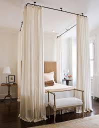 How Do I Hang A Curtain Rod 17 Solutions To Common Small Space Problems Canopy Drapery