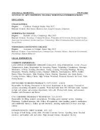 sample criminal justice resume ruby red panther resume for recent