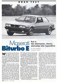 1985 maserati biturbo custom maserati enthusiasts u0027 page