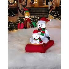 Inflatable Polar Bear Christmas Yard Decorations by Polar Bear Collection On Ebay