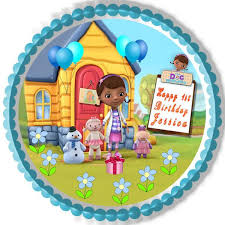 doc mcstuffin cake toppers doc mcstuffins 1 edible birthday cake and cupcake topper edible