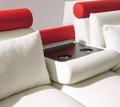 casa t 27 contemporary white and red leather sofa set