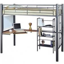 metal bunk bed with desk foter