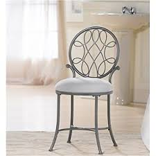 Silver Accent Chair Vanity Stool Silver Accent Chair Metal Modern Kitchen Cushion Seat