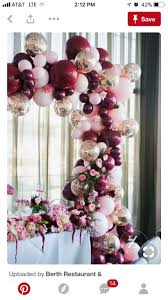 bae flowers and balloon at 9 best burgundy party decor images on ideas para fiestas