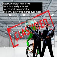 Fact Frog Meme - totally real overwatch facts â real overwatch fact 191 lã cio is