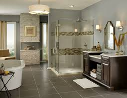 design open styled bathroom design with cozy shower designs